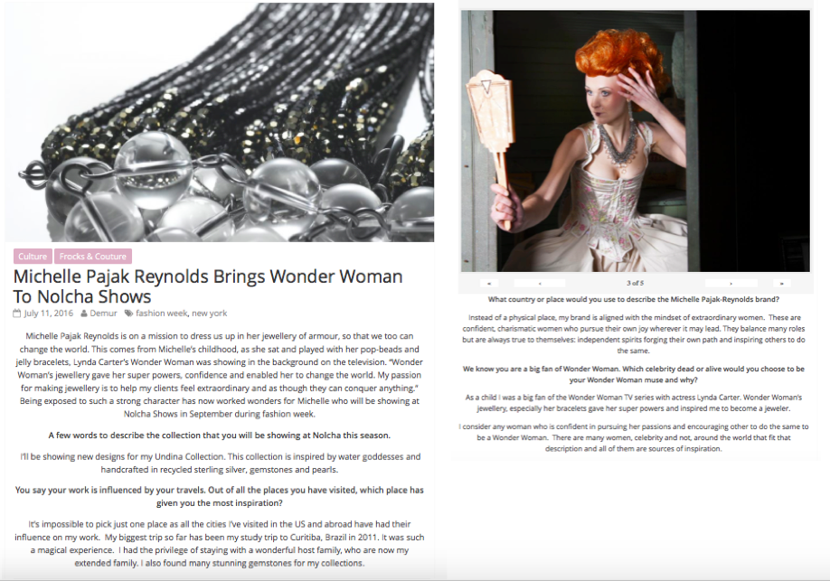 Michelle Pajak-Reynolds brings Wonder Woman to Nolcha Shows