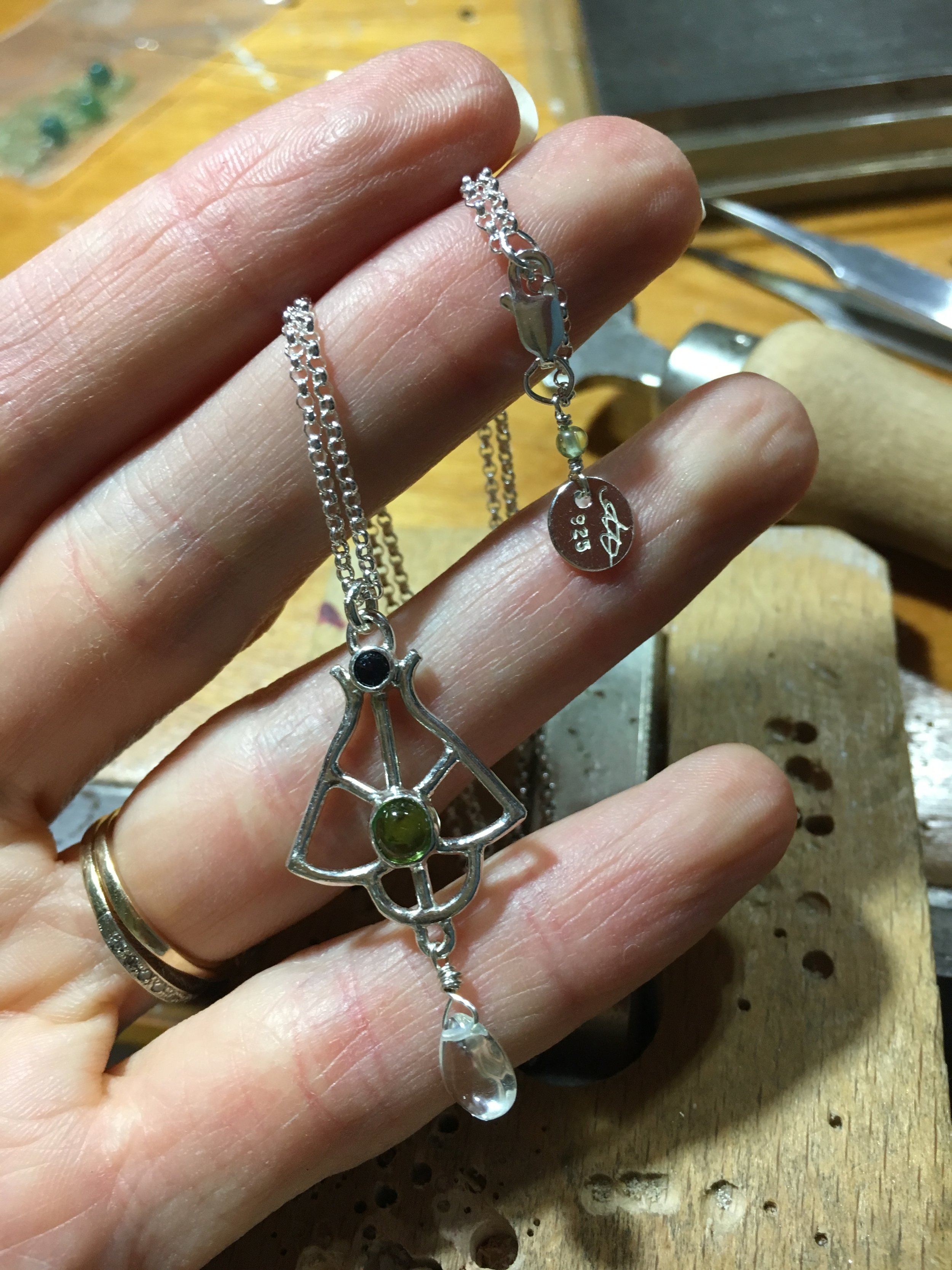 Completed pendant