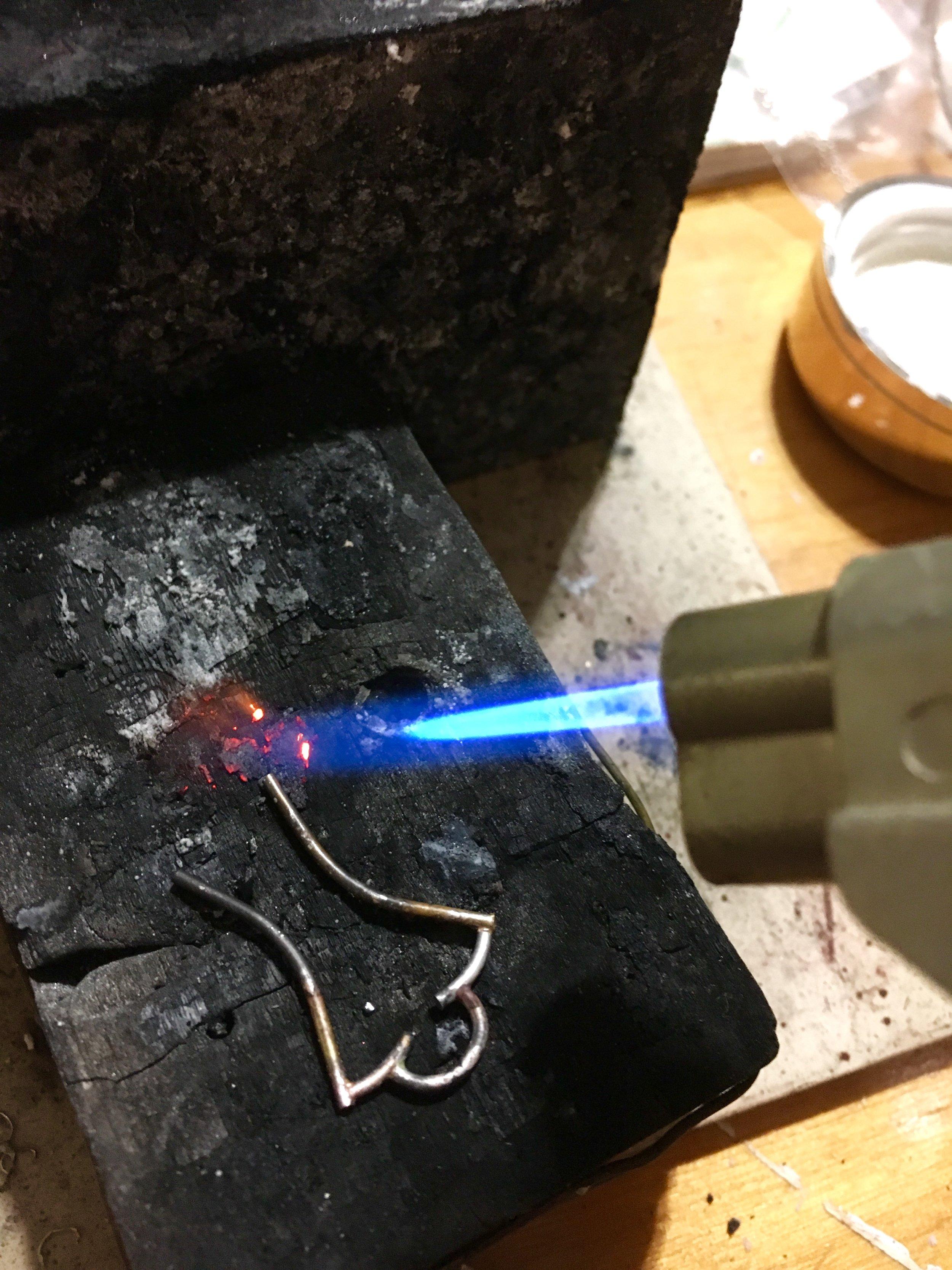 soldering the framework