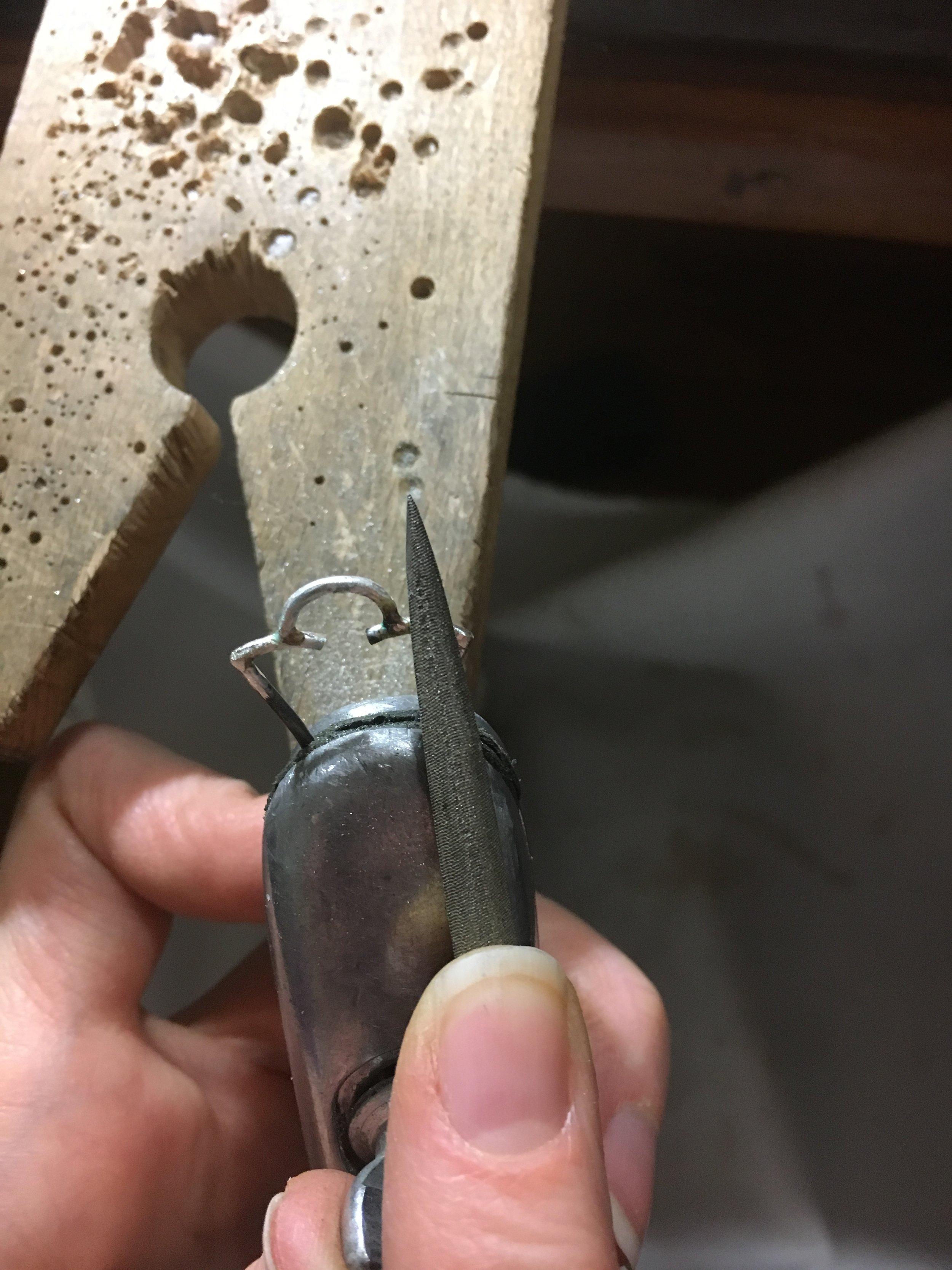 hand fabricating the pendant
