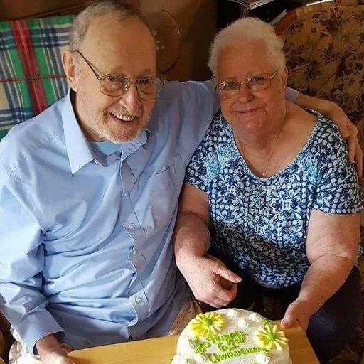 Lester and Sonia Ballentine on their 61st wedding anniversary, August 3, 2016
