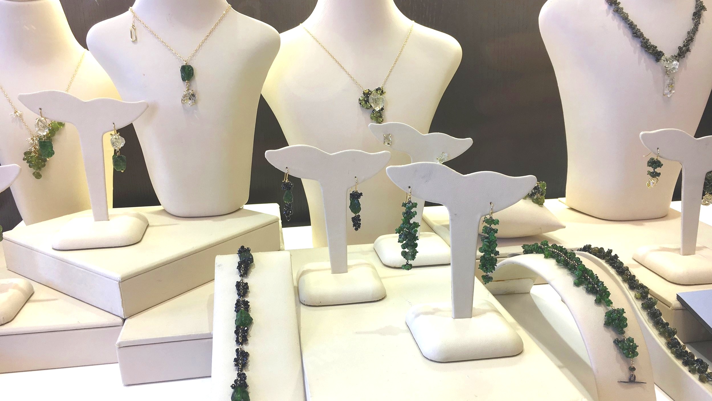 "Selections from Michelle Pajak-Reynolds's ""Voyageuse"" collection available at Squirrel City Jewelers"
