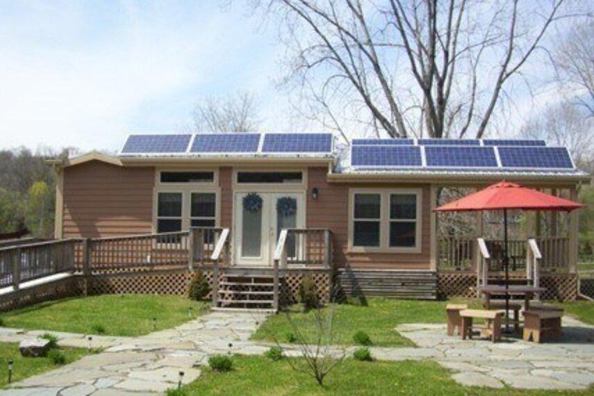 Herkimer Diamond KOA Resort Solar Powered Deluxe Cabin. Photo Credit: Michelle Pajak-Reynolds