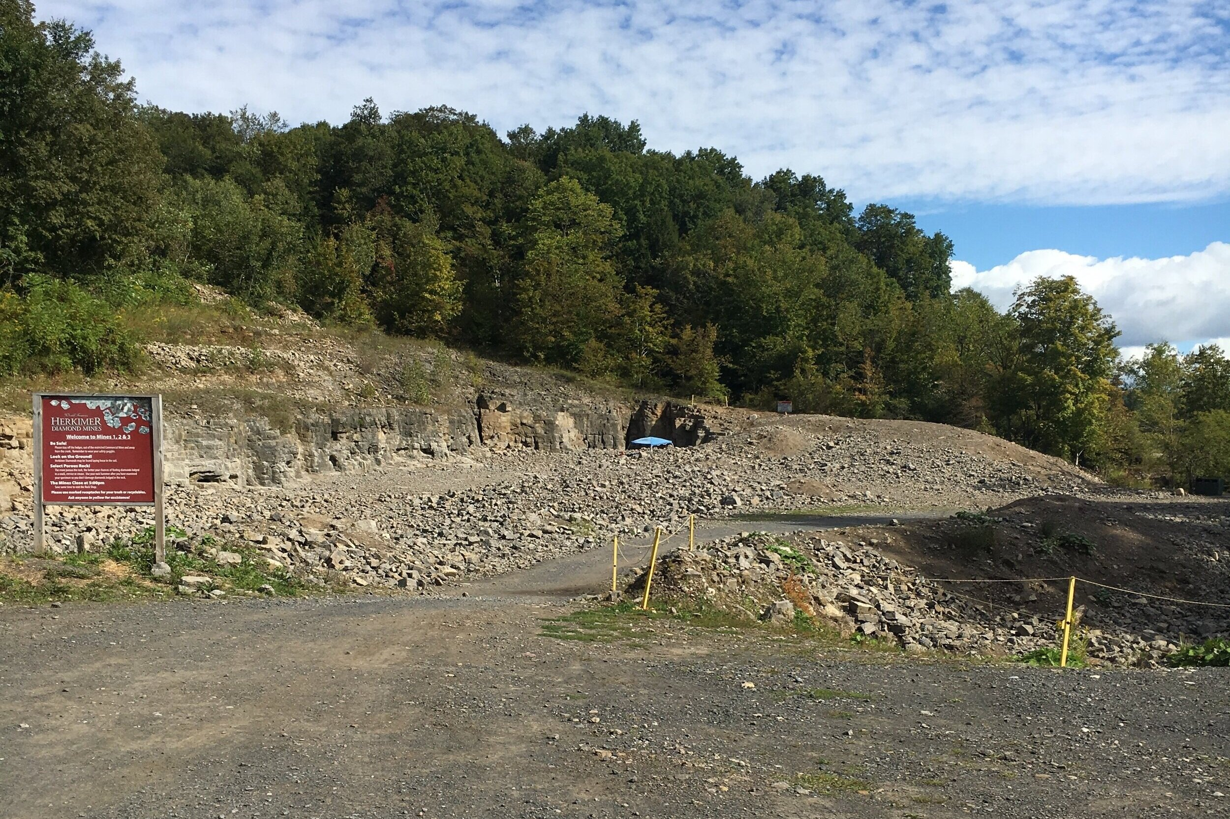 Entrance to the mining area at the World-Famous Herkimer Diamond Mines in Herkimer County, New York. Photo credit: Michelle Pajak-Reynolds