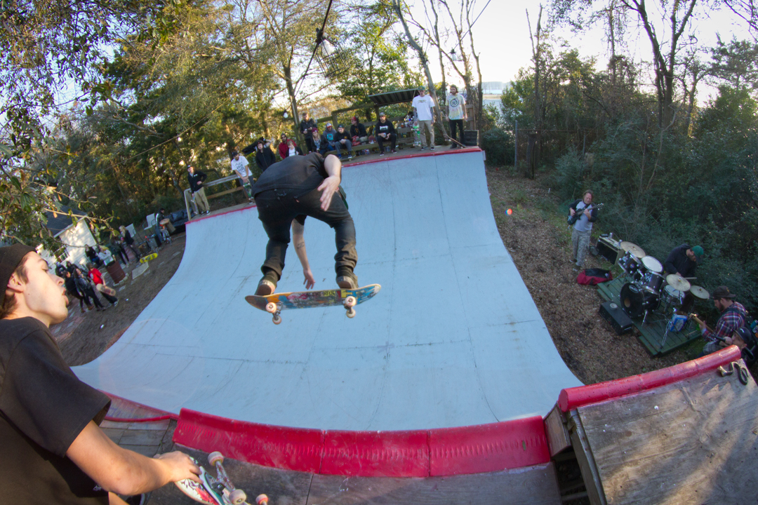 Zach gives a holler and Harsh ollies backside.
