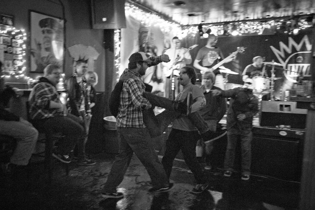 Punk rock dancing.