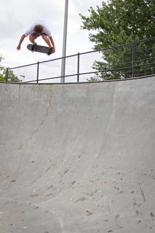 Wells Shaw - Backside air in Hendersonville, NC.