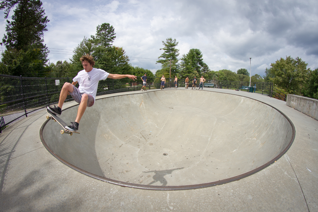 Wells Shaw - Frontside disaster in Hendersonville, NC.