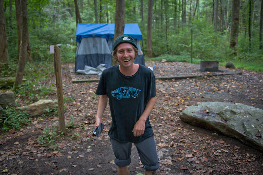 Alec Chambers in Pisgah National Forest.