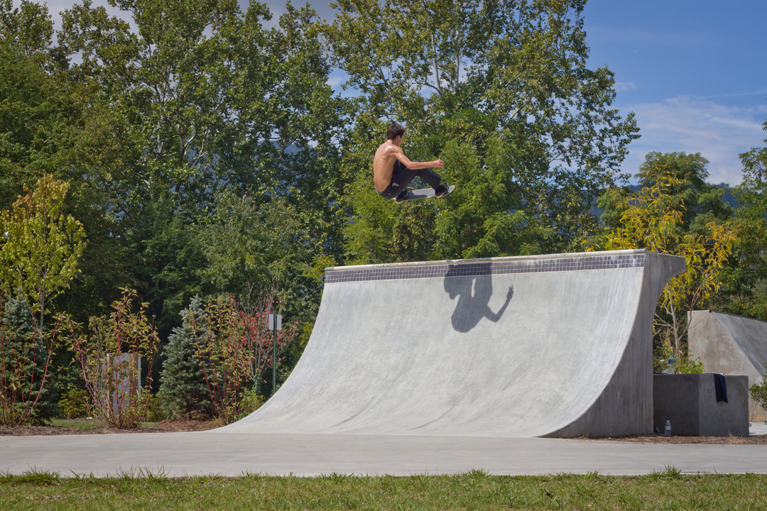 Will Smith - Frontside ollie in Waynesville, NC.