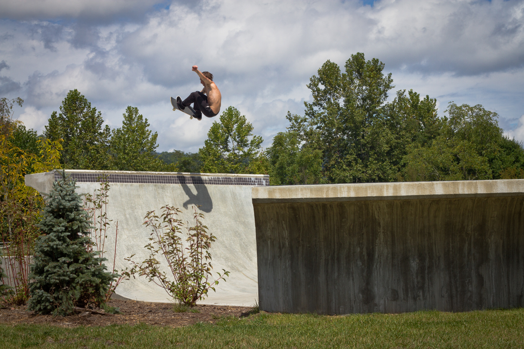 Alec Chambers - Frontside air in Waynesville, NC.