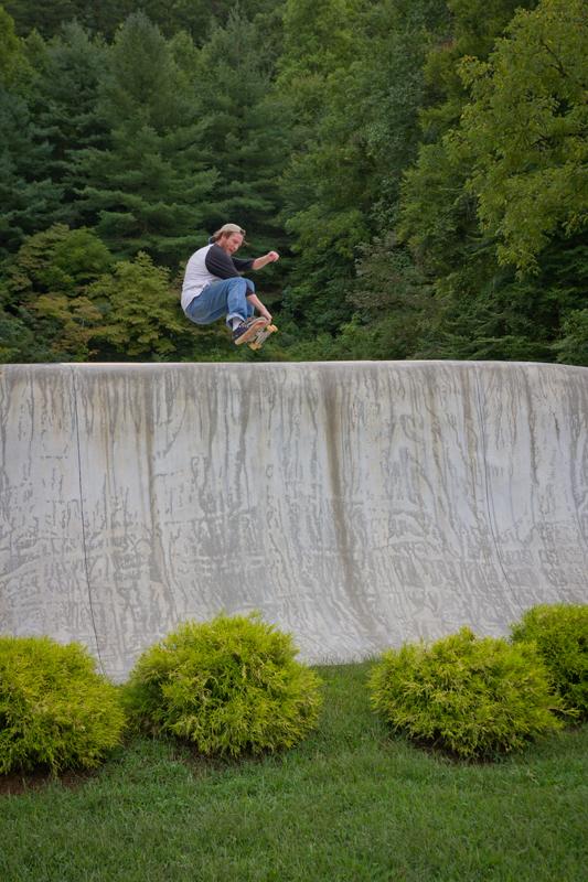 Gabe Sirenko-siryj - Crail tailslide in Cherokee, NC.