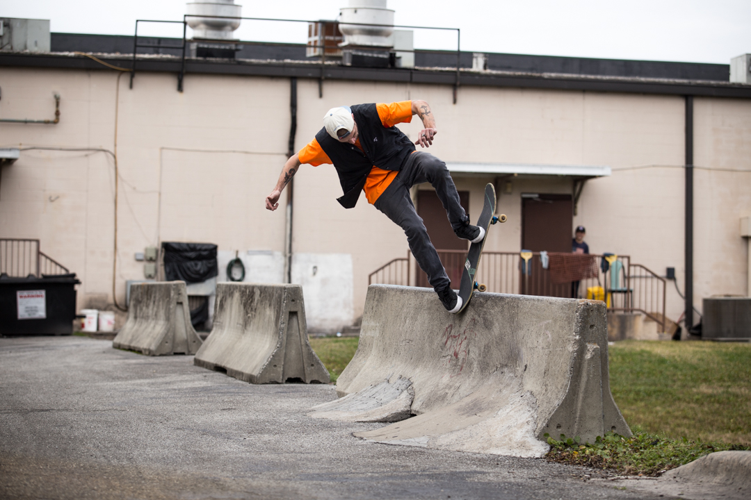 """February brought more photos and plenty of skating during the wedding """"off-season"""". Marky delivered a blunt slide on this particular barrier session."""