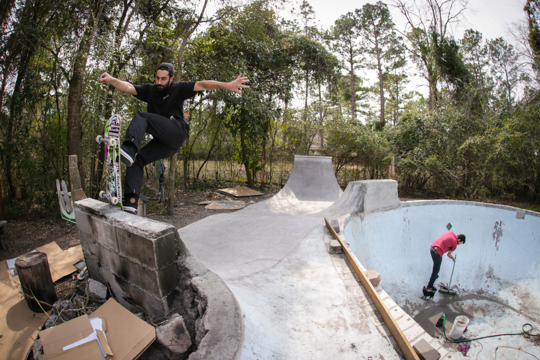 Sundays are for Church...bowl. Still not empty from October's hurricane weather, the church boys decided to build on higher ground. Timmy J front blunts the new new.