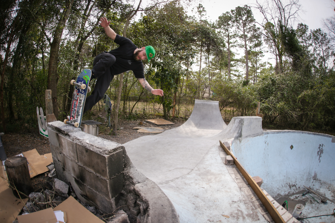 Harshbarger takes a blunt fakie.