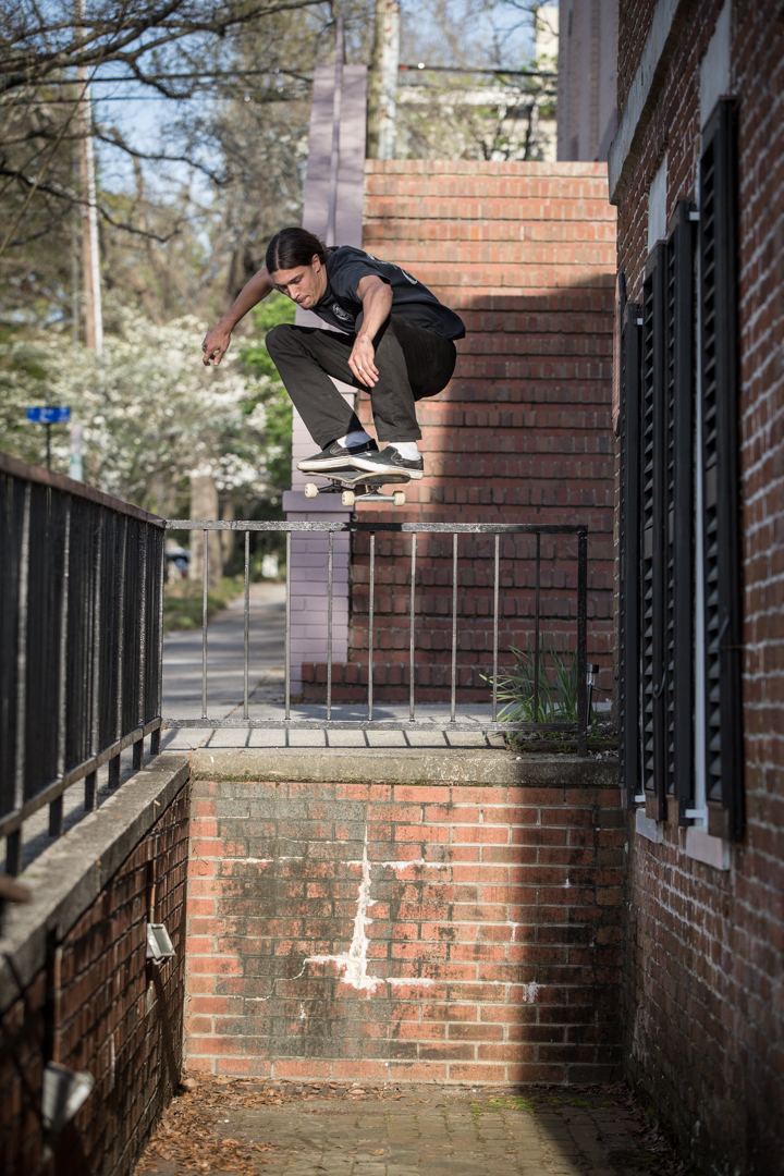 Back in the streets, Colin gives his best Kenny Hughes tribute with this downtown ollie drop.