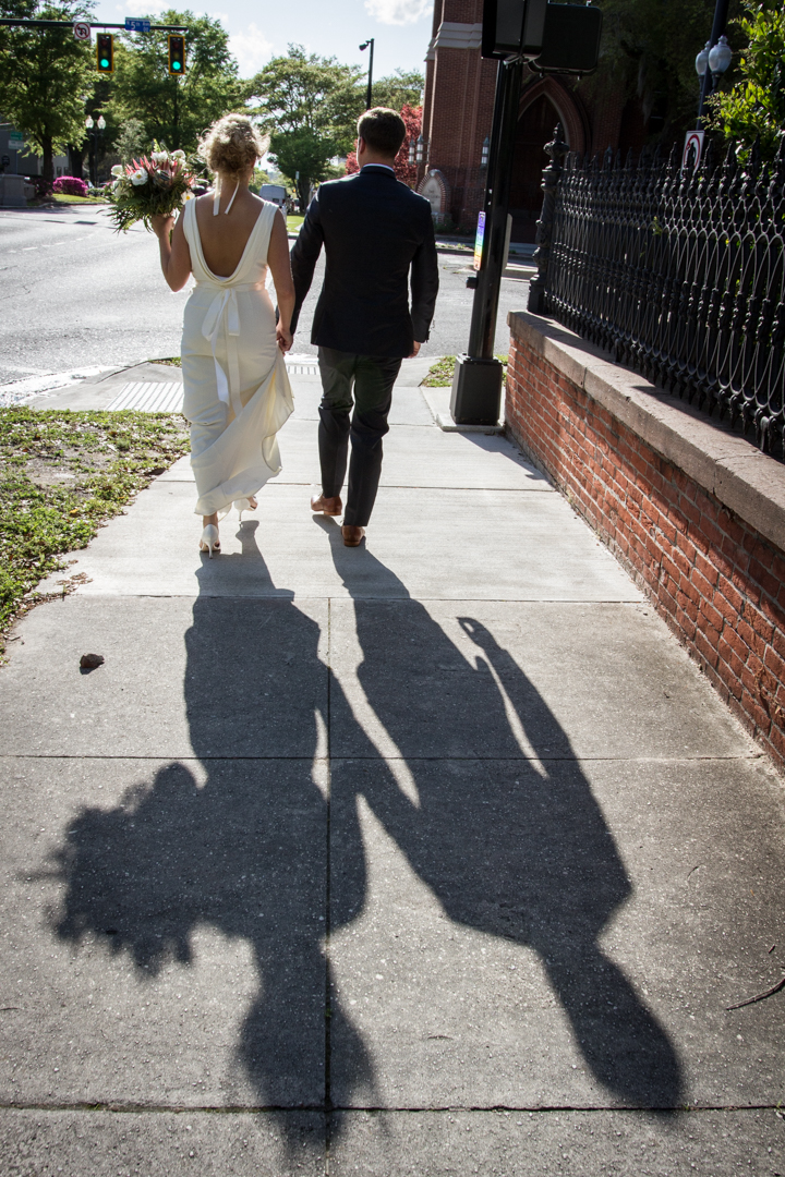 Nothing like a stroll downtown after you get married.