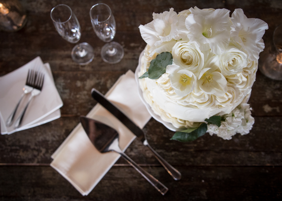 Adam and Colleen had their wedding at  The Venue and it was awesome. I mean, just look at this cake setup!
