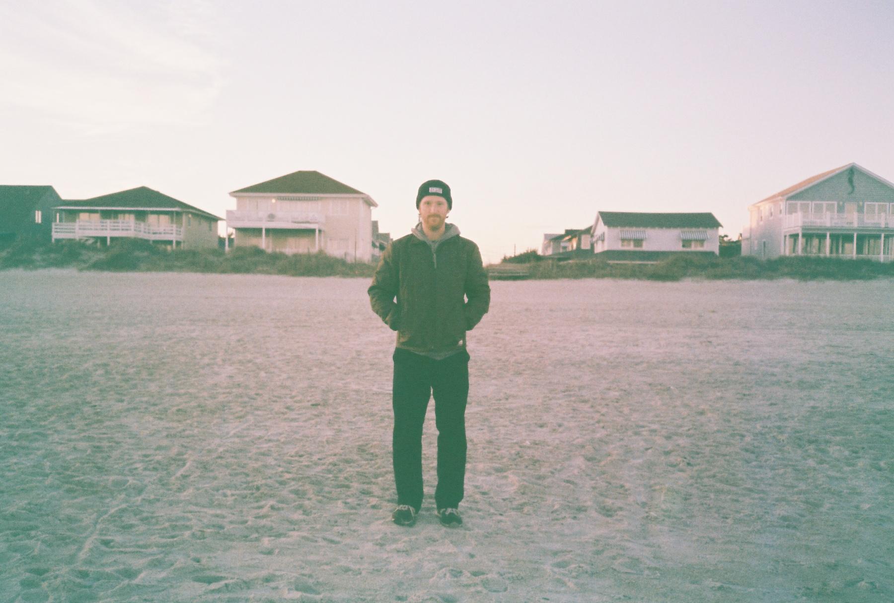 Self-portait. Carolina Beach, NC.