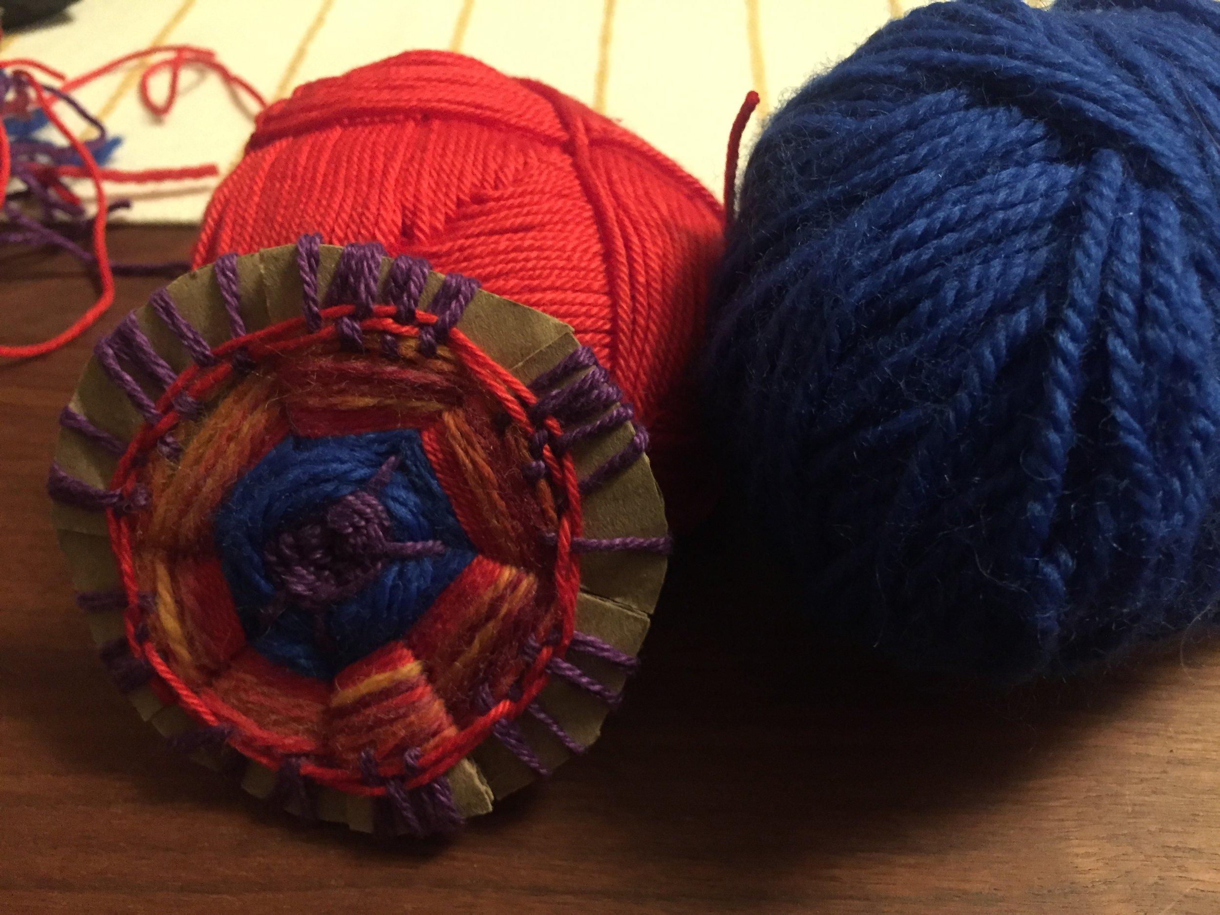 Circle Weaving: Spring Blossoms
