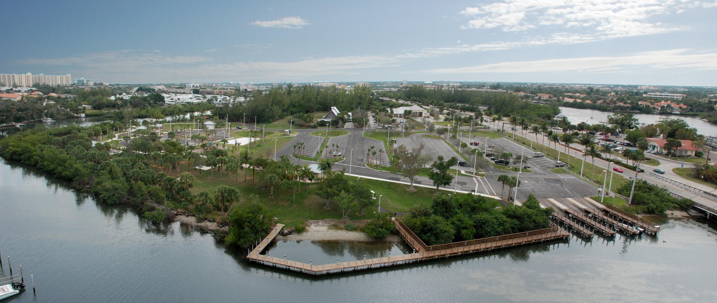 Burt Reynolds Park Palm Beach County Florida birds eye aerial.jpg