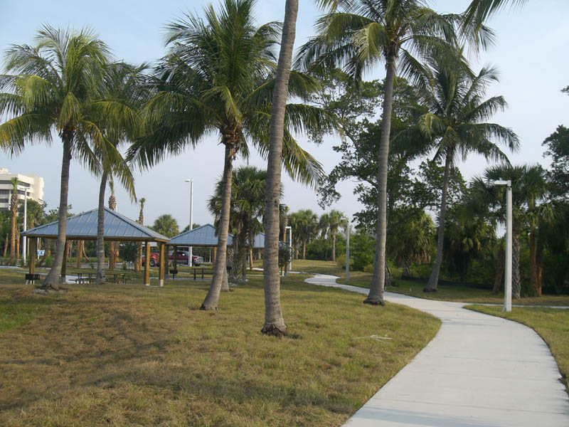Burt Reynolds Park Palm Beach County Florida Picnic Shleters and walk.JPG