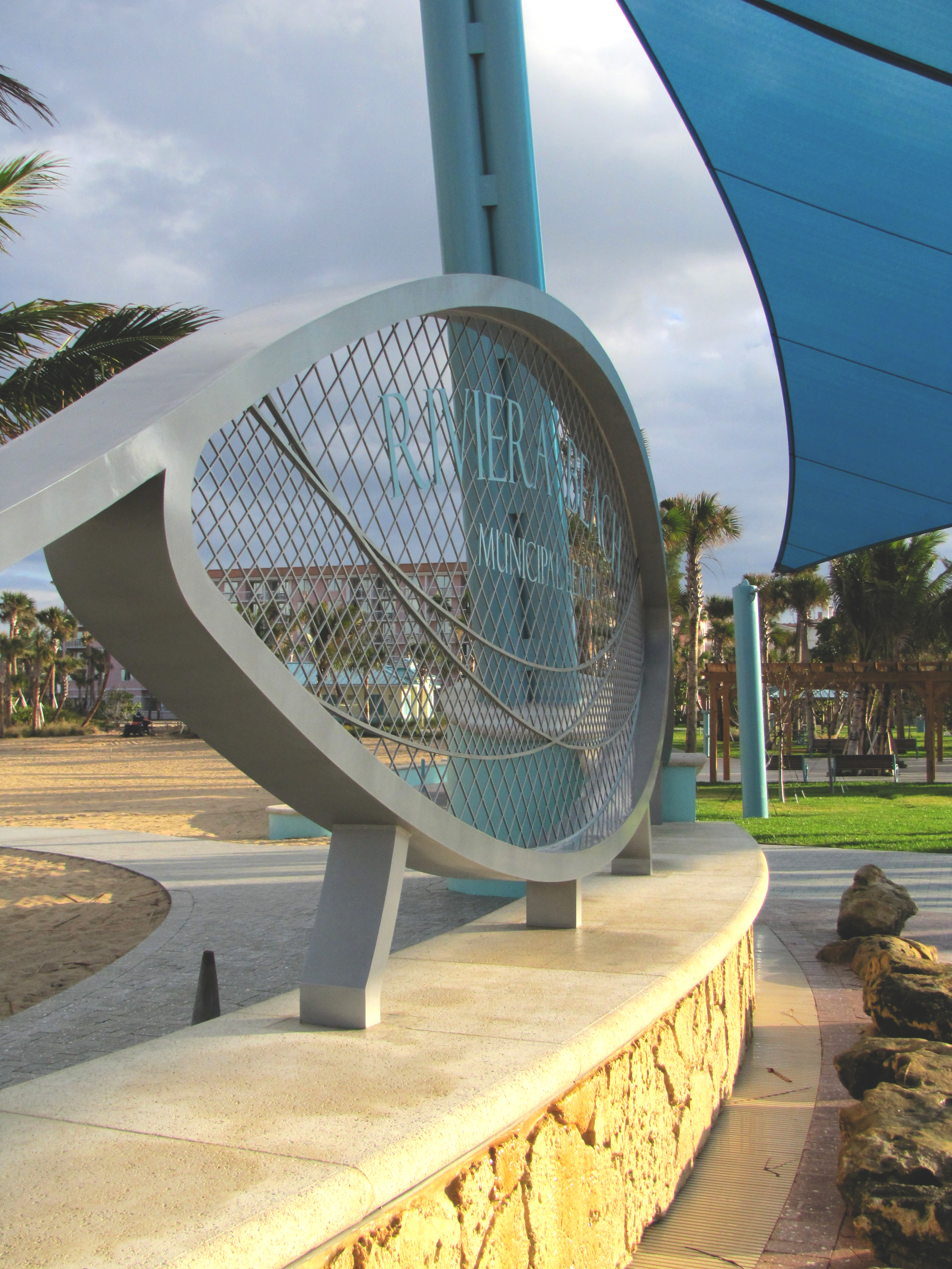 City of Riviera Beach Municipal Beach Park Ocean Mall Concrete Cap and CapRock Water feature.jpg
