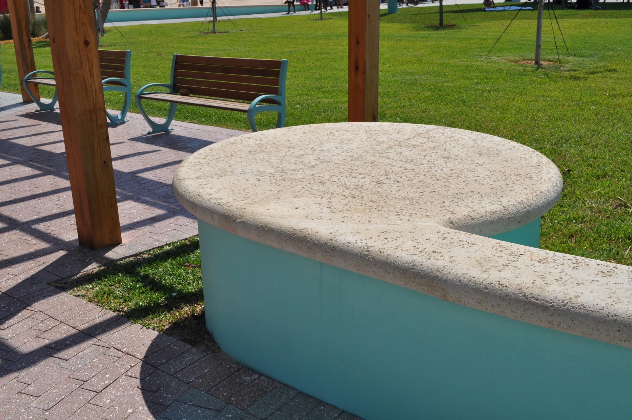 City of Riviera Beach Municipal Beach Park Ocean Mall Custom Concrete Cap and Seating wall.jpg