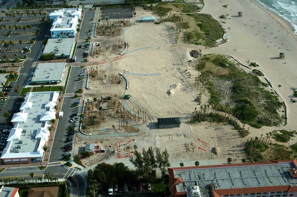 City of Riviera Beach Municipal Beach Park Ocean Mall Dune Restoration Being Installed.JPG