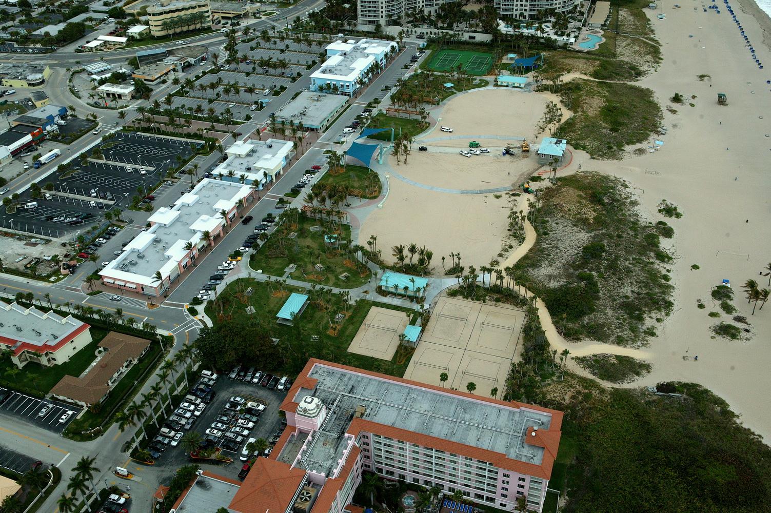 City of Riviera Beach Municipal Beach Park Ocean Mall Final Volley Ball Courts.JPG