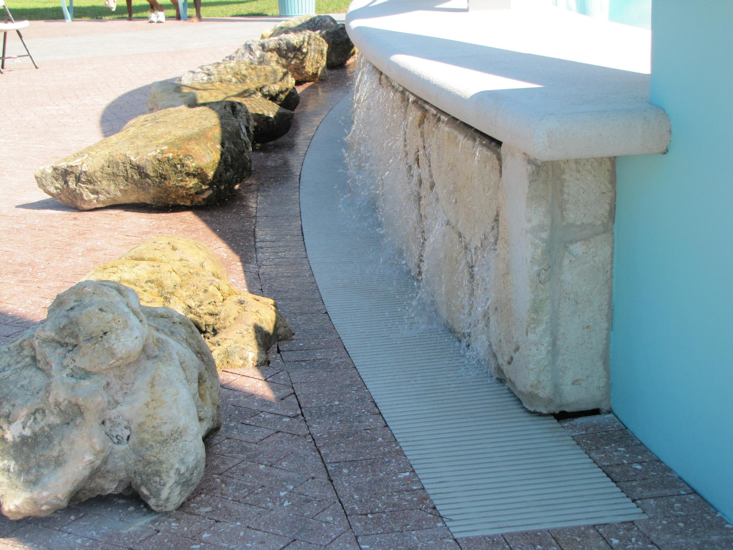 City of Riviera Beach Municipal Beach Park Ocean Mall Fountain With Caprock and Trench Drain.jpg