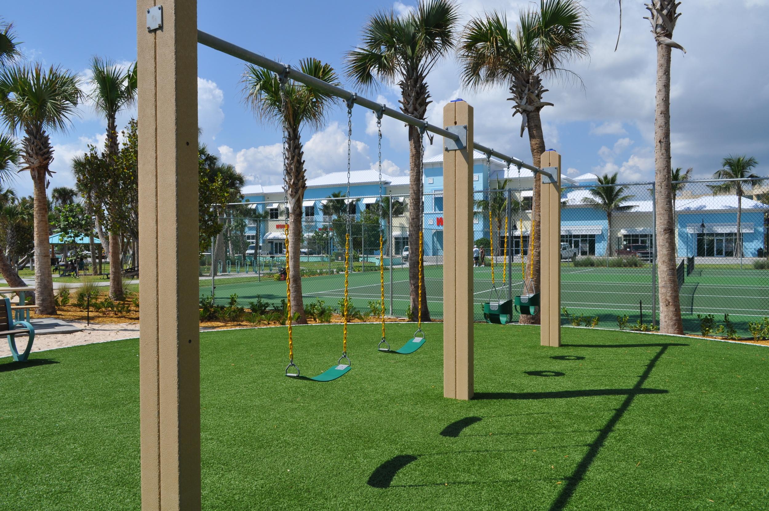 City of Riviera Beach Municipal Beach Park Ocean Mall Playground Swings.jpg