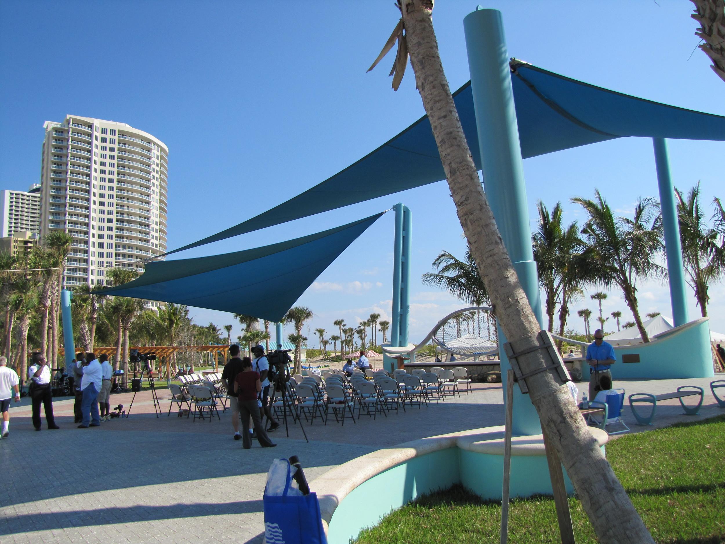 City of Riviera Beach Municipal Beach Park Ocean Mall Shade Sail Courtyard.jpg