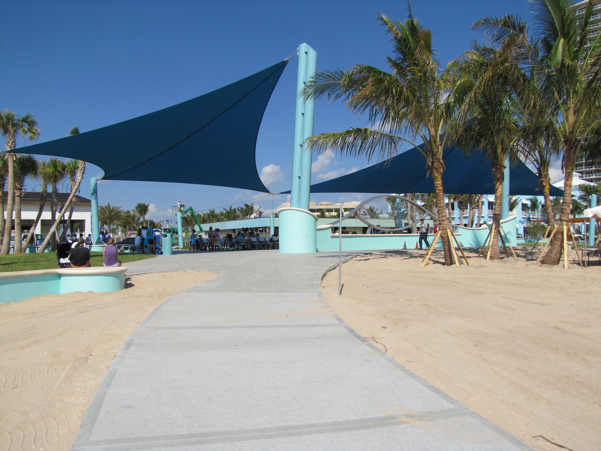 City of Riviera Beach Municipal Beach Park Ocean Mall Shade Sail Entry Opening.jpg