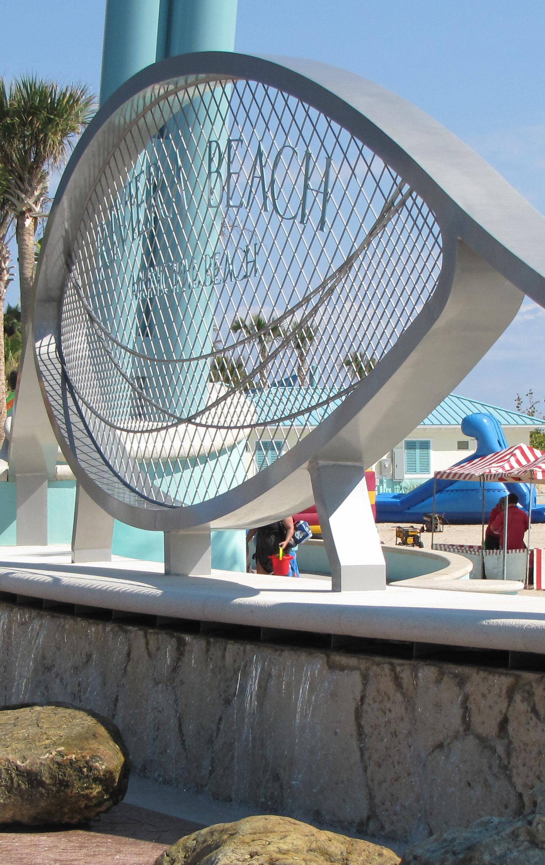 City of Riviera Beach Municipal Beach Park Ocean Mall Stainless Steel Sign Fountain.jpg