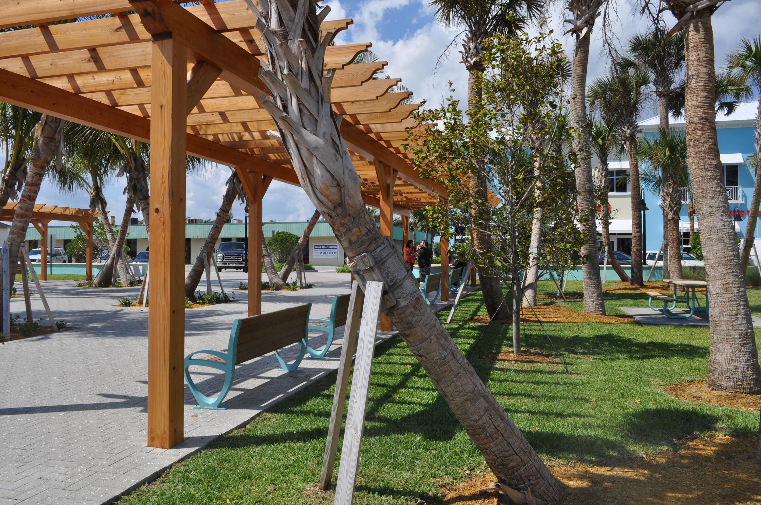 City of Riviera Beach Municipal Beach Park Ocean Mall Trellis with Seating.jpg