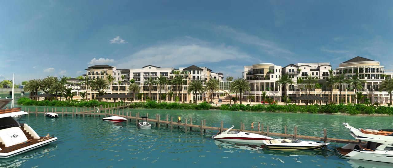 Harbourside Jupiter Florida Looking East at Marina and Riverwalk.jpg