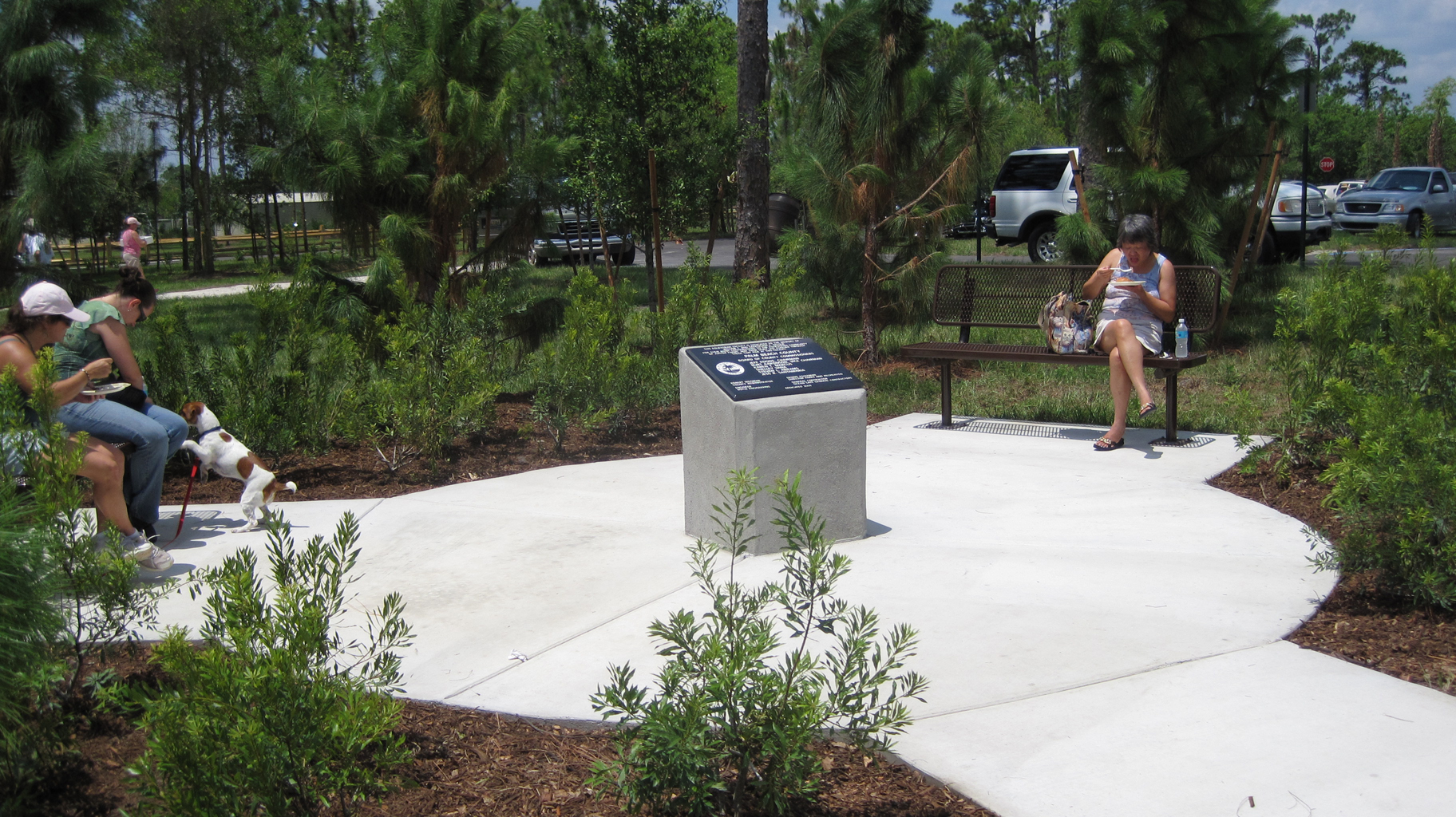 Palm Beach County Equestrain Facility Gathering Space and Plaque.jpg