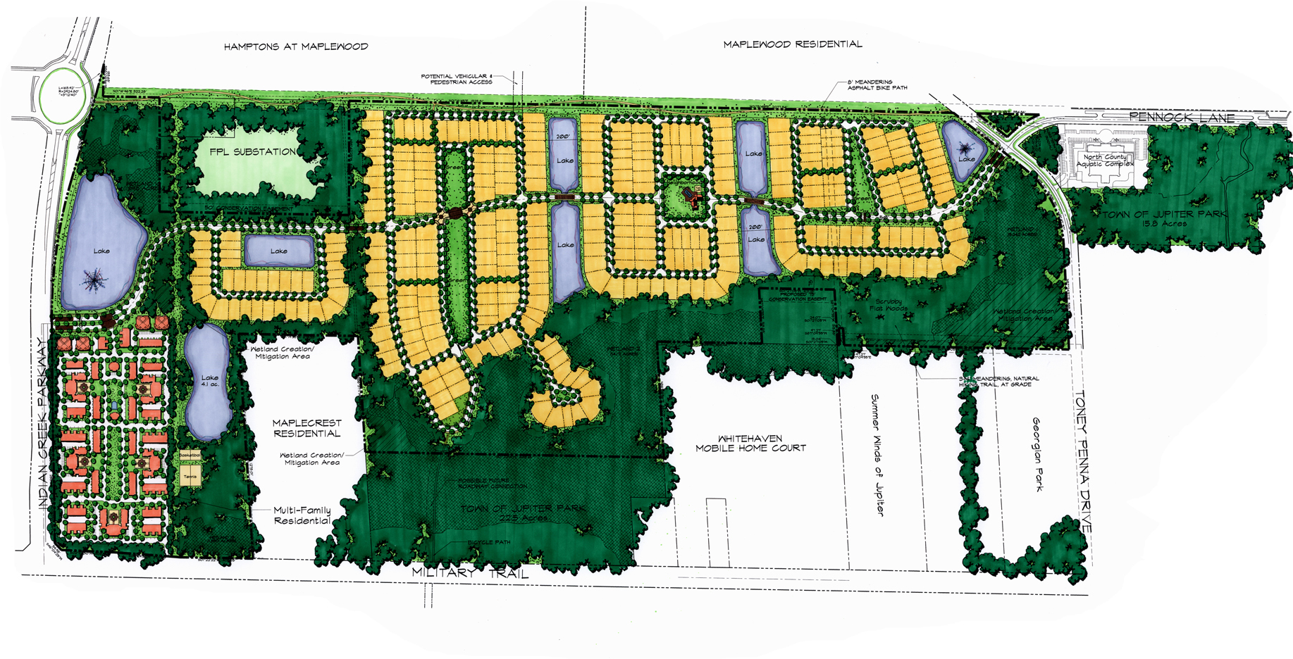 Paseos Residential Community Jupiter Florida Master Plan Single and Multi Family Perserve Area.jpg