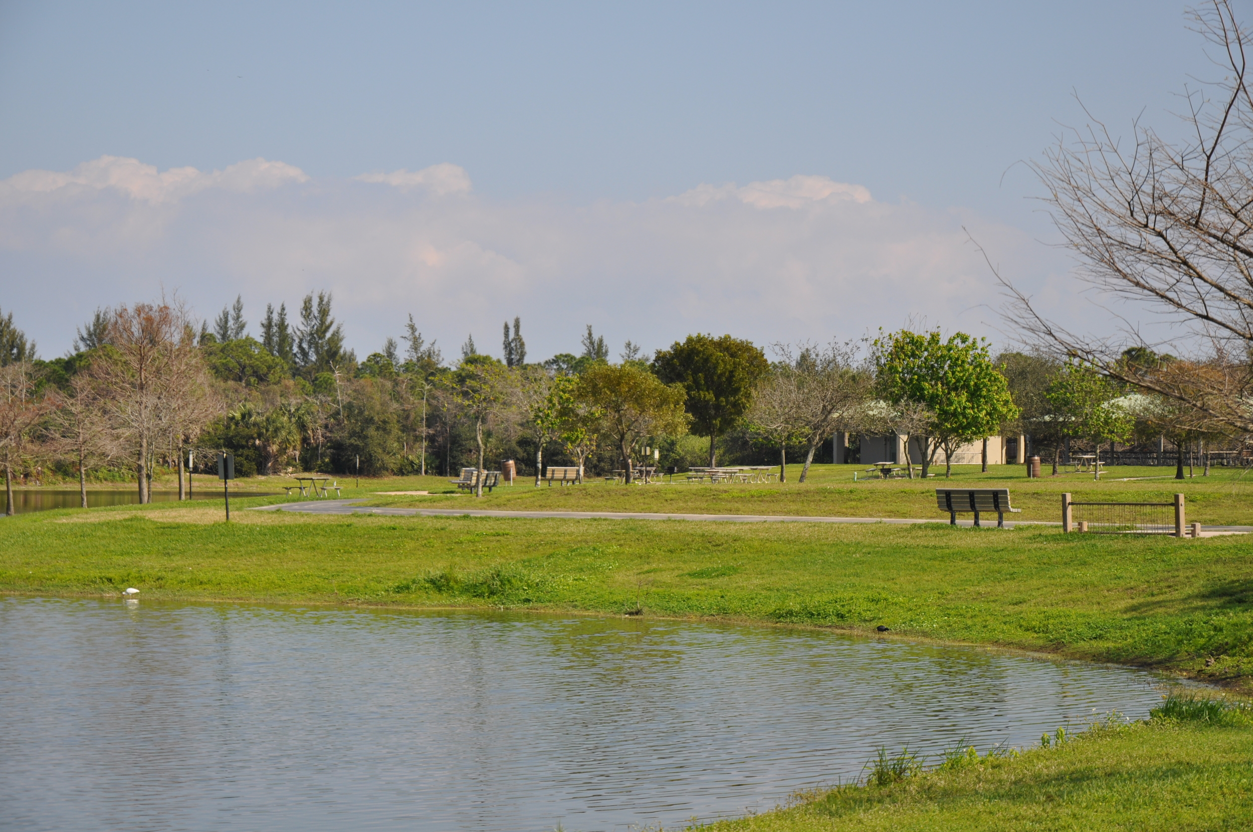 Dyer Landfill Reclamation Palm Beach County Florida Seating Areas by the Lake.JPG