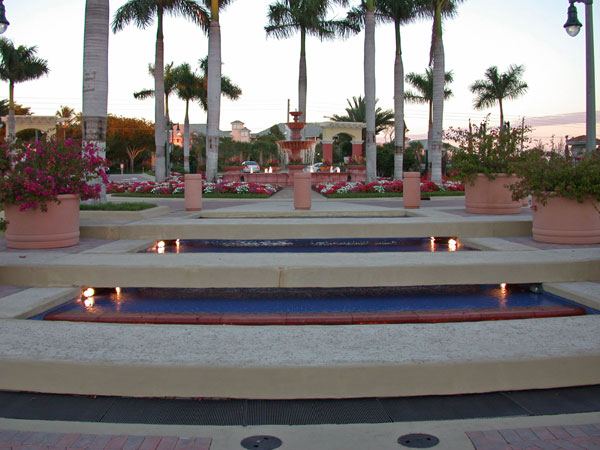 Jupiter Yacht Club Florida Fountain Large Planters.jpg