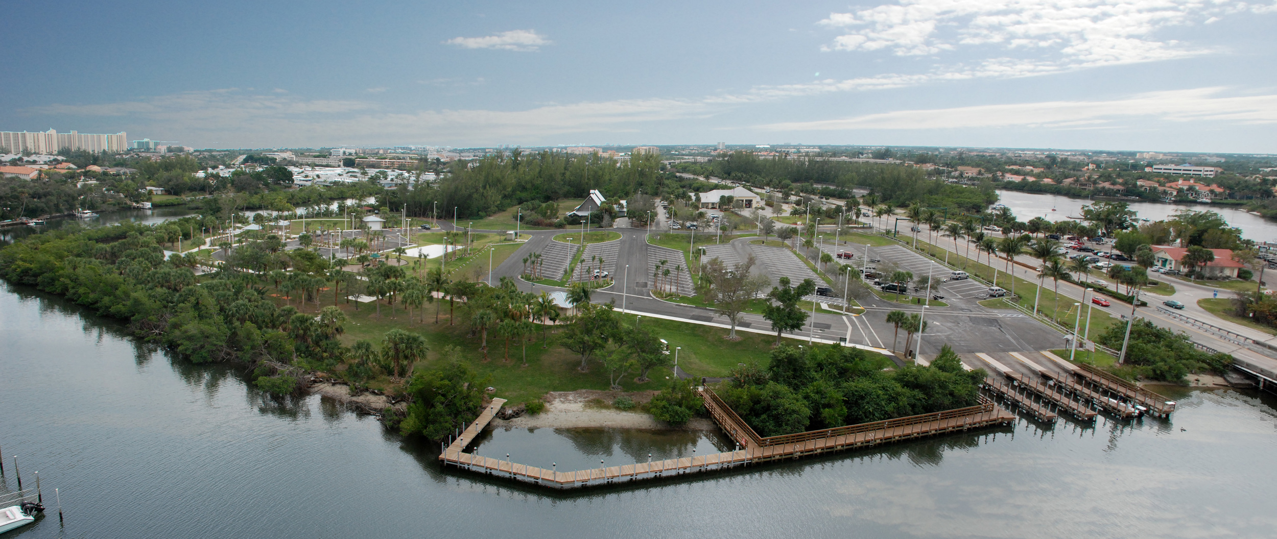 Burt Reynolds Park Palm Beach County Florida birds eye aerial.jpg