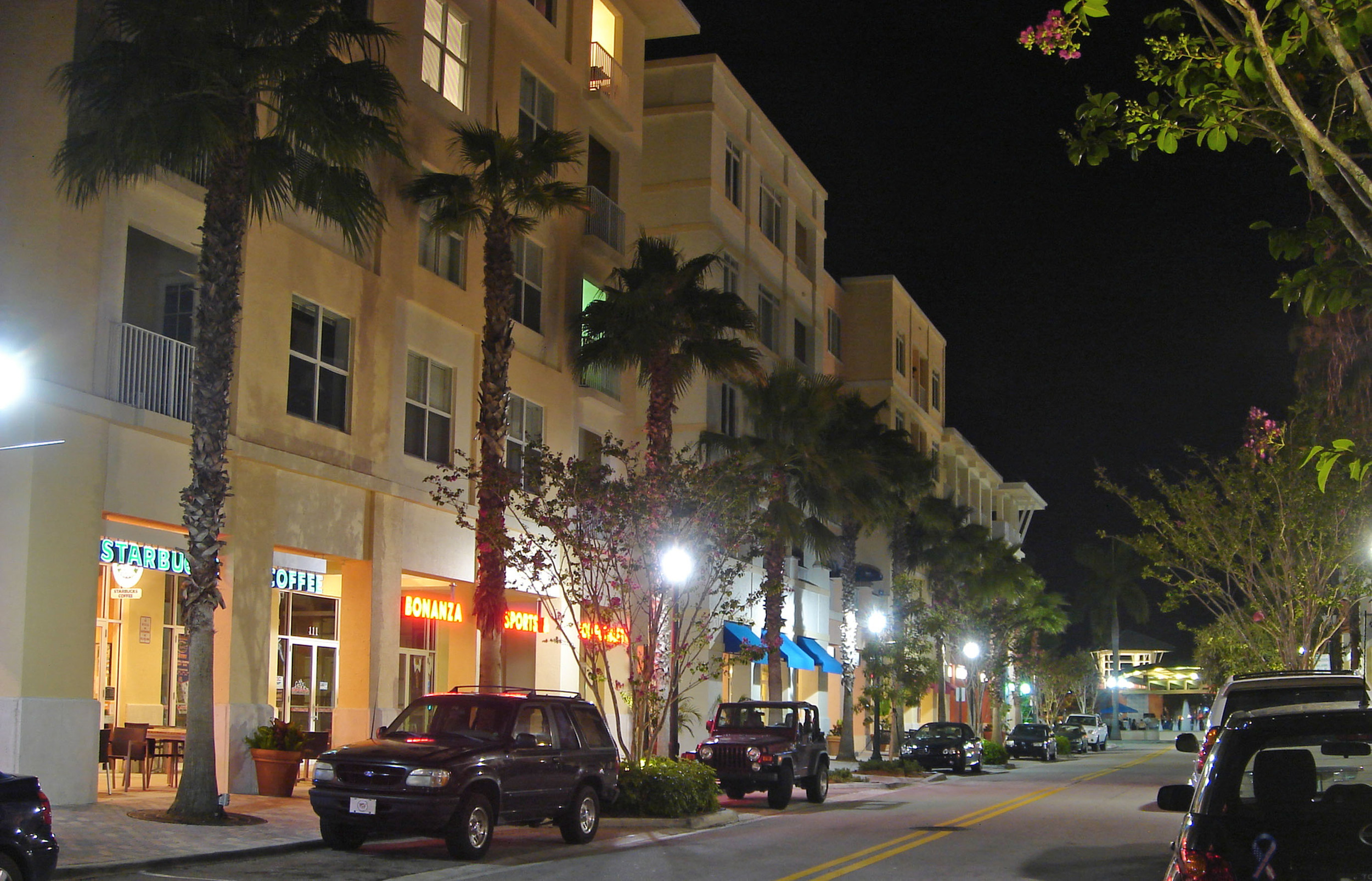 Abacoa Town Center Jupiter Florida Lively Night Streetscape.jpg