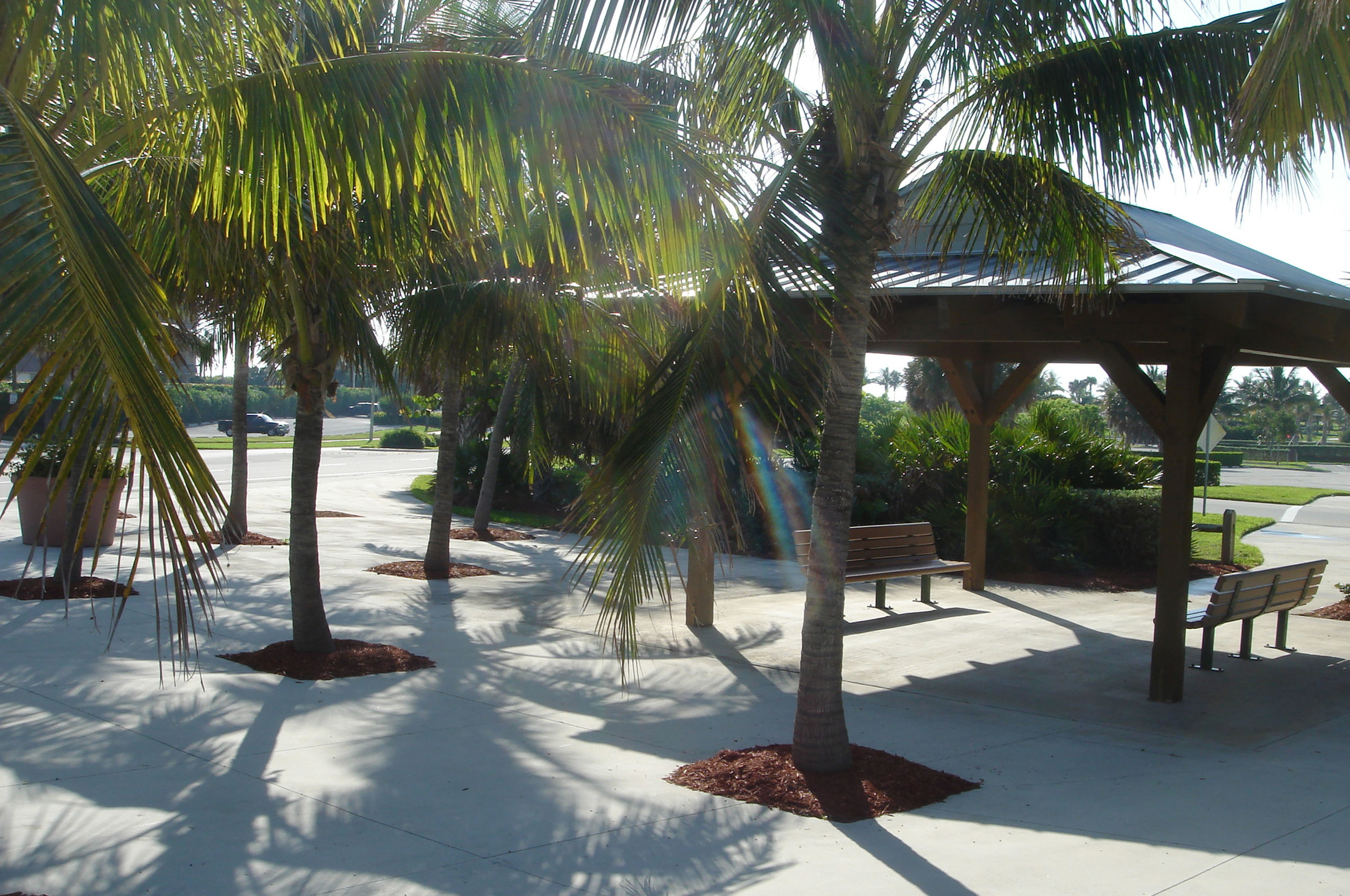 Ocean Cay Park Palm Beach County Shade Structure seating area.jpg