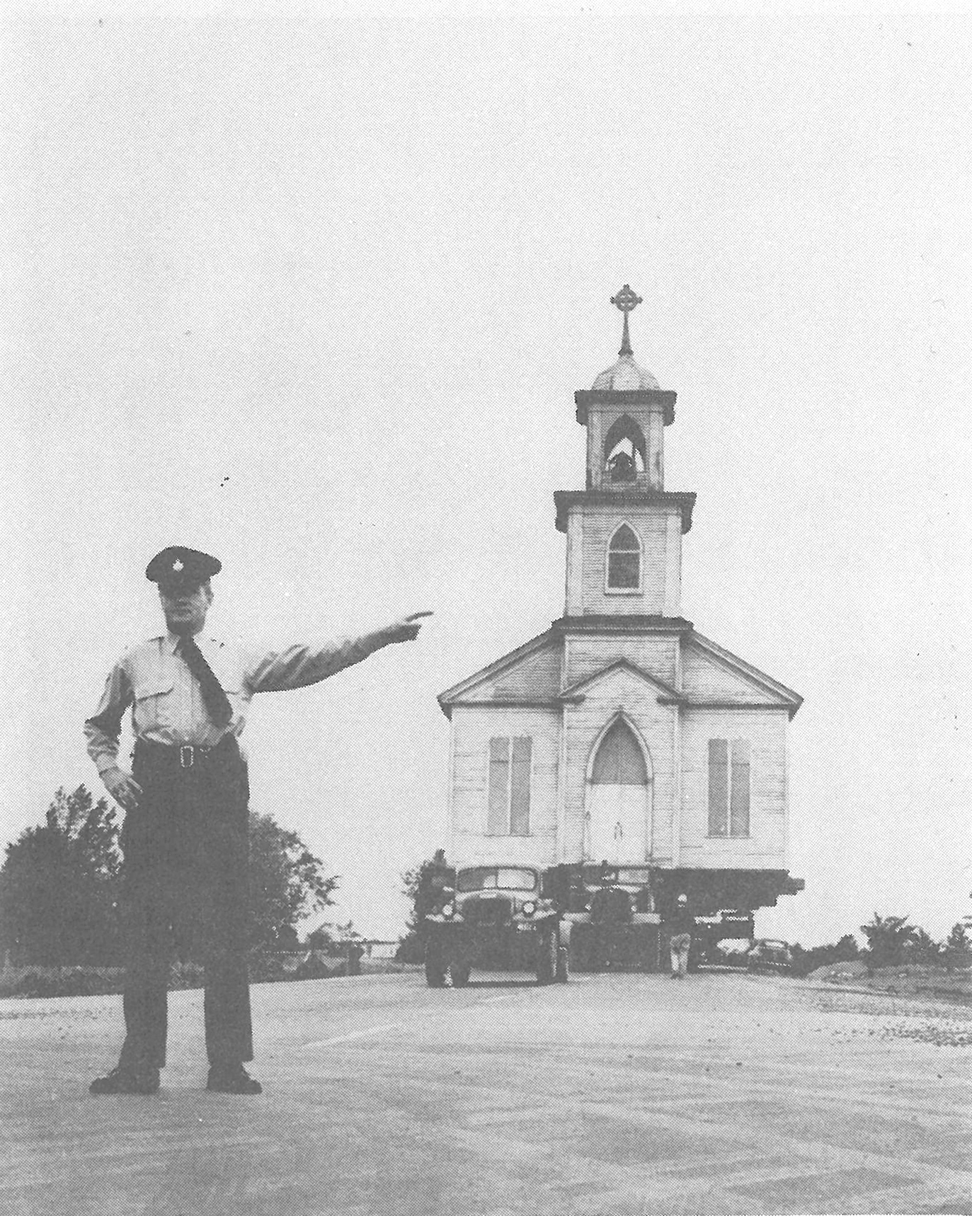 Christ Church Anglican, Moulinette, en route to Upper Canada Village. Credit: Ontario Hydro Archives
