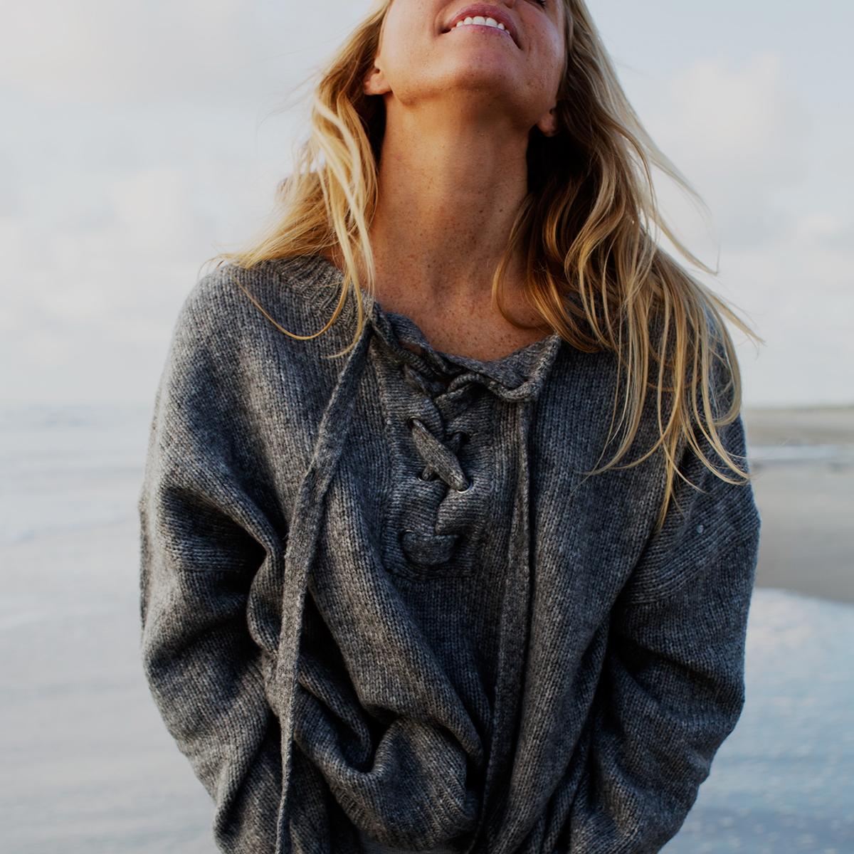 beach knit -