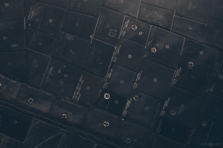 Space Shuttle Atlantis – detail. Tiles.