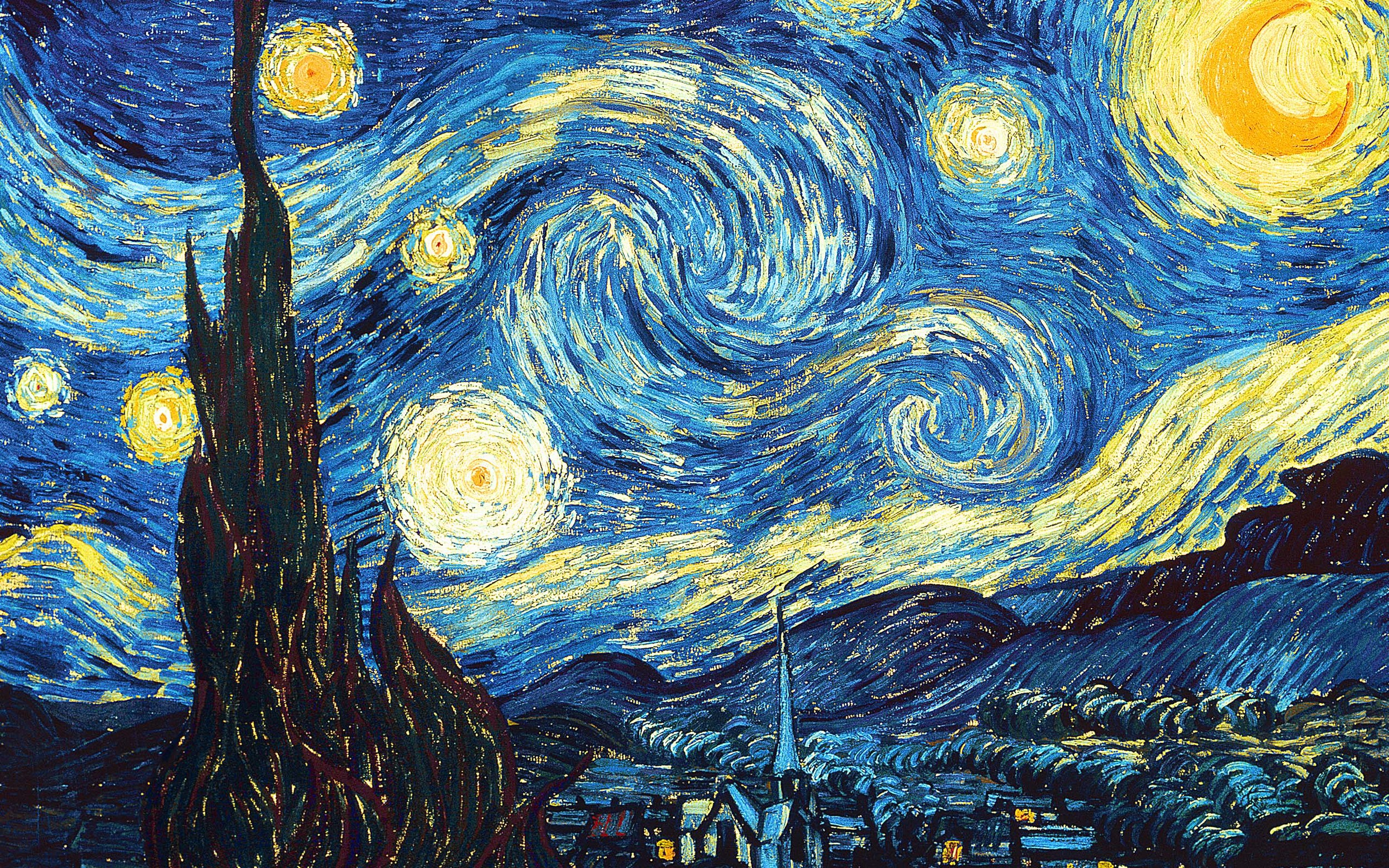 Starry Night:   By: Vincent Van-Gough