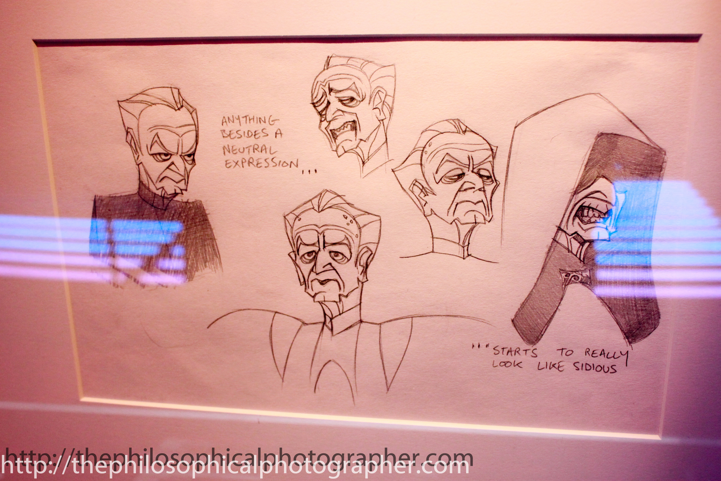 Palpatine's Facial Expressions