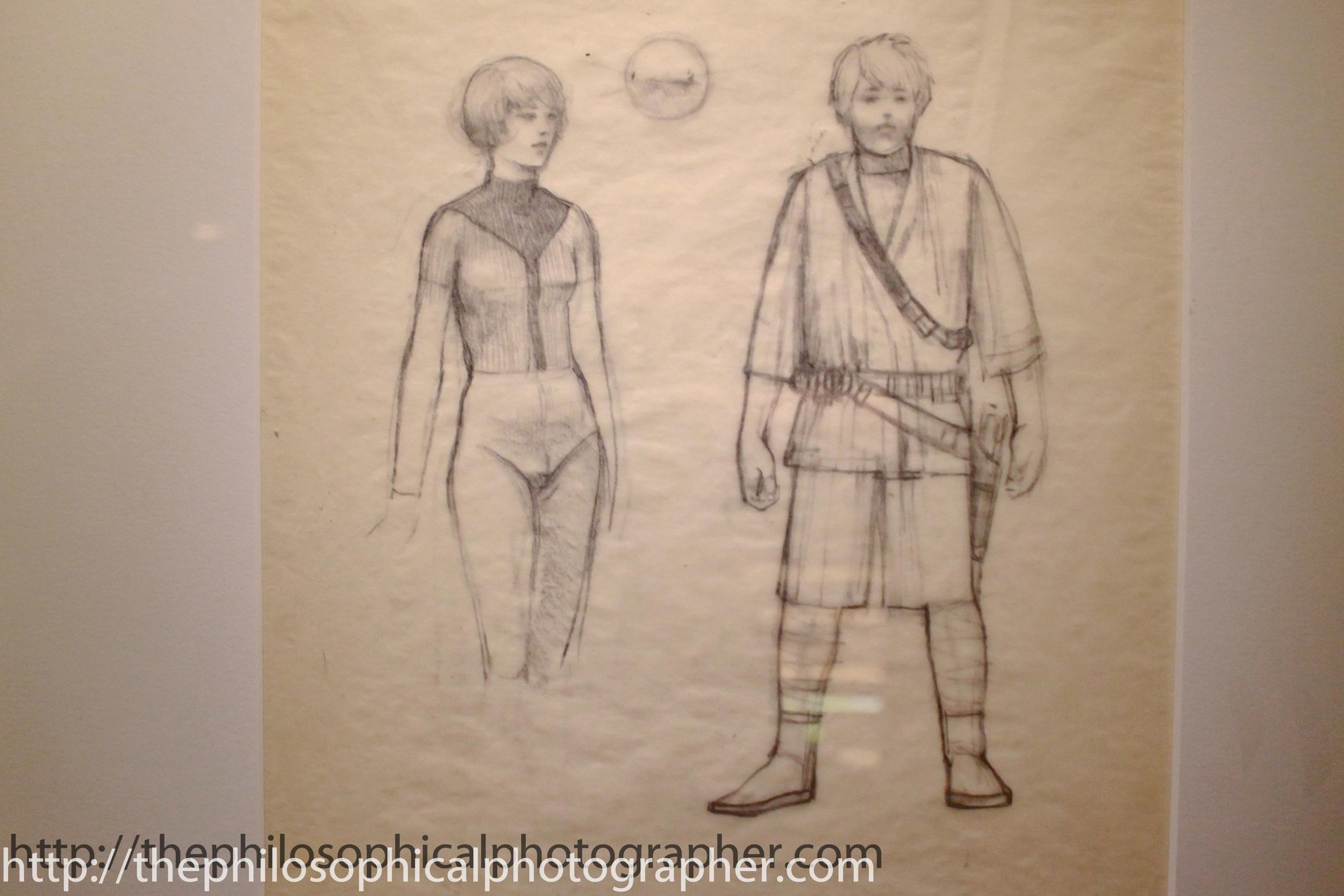 Early Luke and Leia